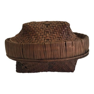 Early 20th Century Antique African Woven Basket For Sale