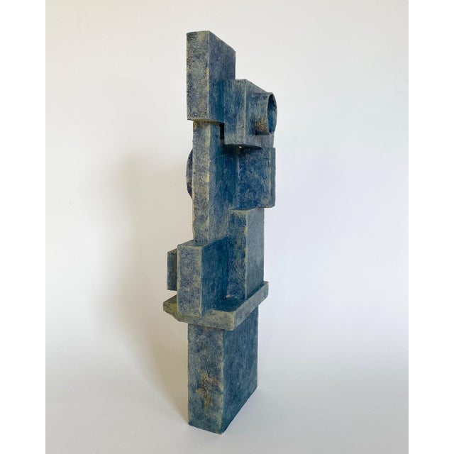 Abstract mixed-media sculpture dating to the mid-20th century by self-taught artist Scottish Bill Low. Low (1898-1981) was...
