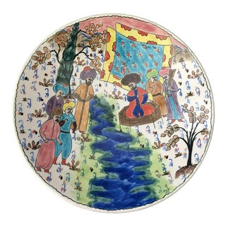 20th Century Turkish Hand Painted Plate For Sale