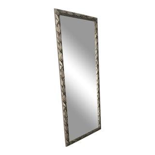 Silver Wood Braided Bathroom Mirror For Sale