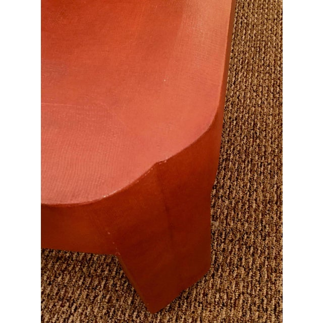 Modern 1970s Modern Mark Hampton Custom Linen Wrapped Low Table For Sale - Image 3 of 6