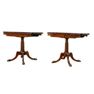Regency Rosewood Games Tables - a Pair For Sale