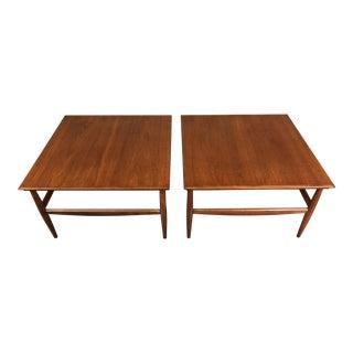 Mid-Century Danish Modern Teak Side Tables - a Pair