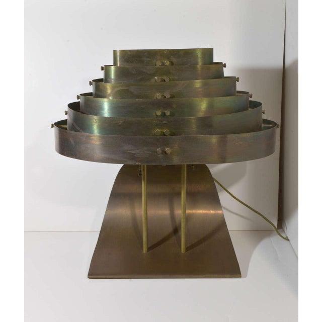 Art Deco Machine Age Kurt Versen Bronzed Streamline Table Lamp Vintage original condition with beautiful bronze / brass /...