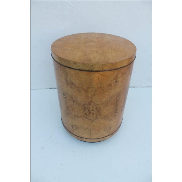 1970s Milo Baughman Burl Wood Side Table - Image 8 of 8