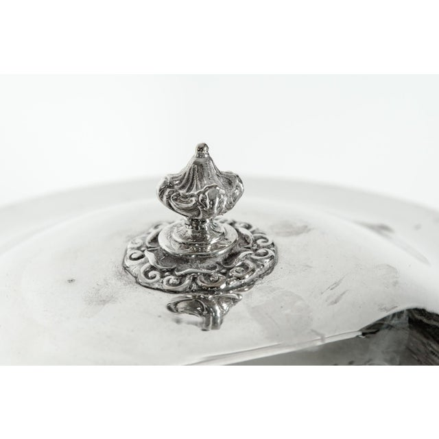 English Silver Plated Revolving Serving Dish Set of 9 For Sale - Image 10 of 12
