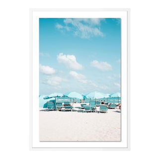 Miami II by Natalie Obradovich in White Framed Paper, Large Art Print For Sale