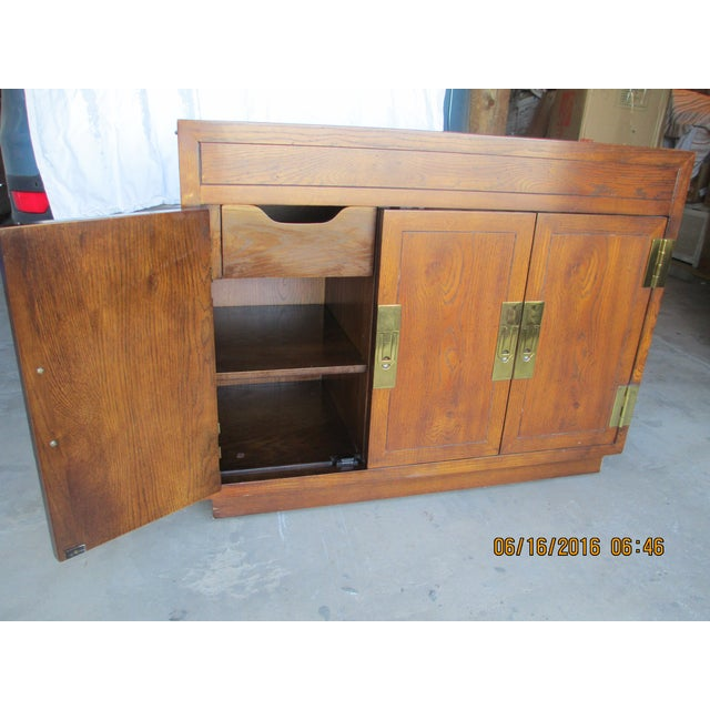 Campaign Henredon Campaign Buffet Server For Sale - Image 3 of 8