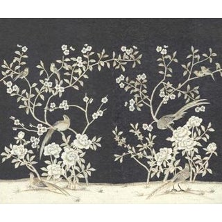 "Casa Cosima Henri Charcoal Wallpaper Mural - 2 Panels 72"" W X 72"" H For Sale"