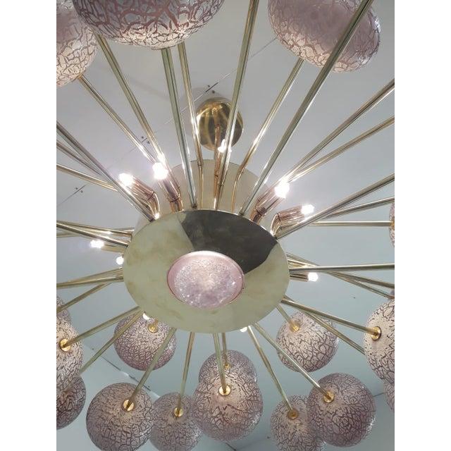 Purple Crackled Globes Chandelier by Fabio Ltd For Sale - Image 8 of 9