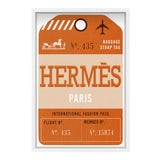 Image of Oliver Gal 'Paris Fashion Luggage Tag' Framed Art For Sale