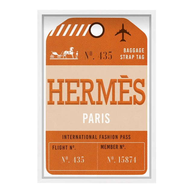 Oliver Gal 'Paris Fashion Luggage Tag' Framed Art For Sale