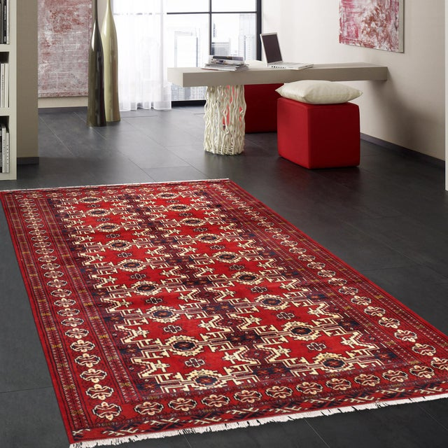 """Pasargad Vintage Balouch Area Rug- 3'11"""" X 5' 4"""" - Image 4 of 4"""