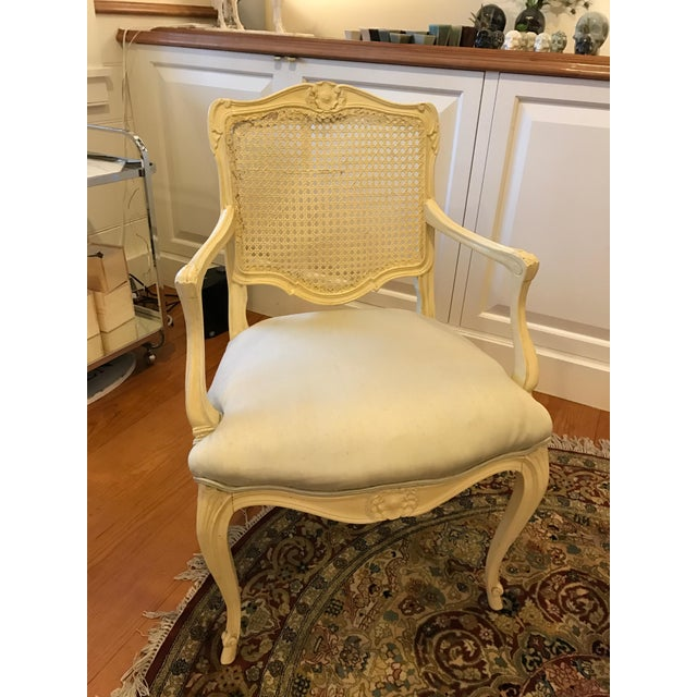 Louis Style Carved Wood White Chairs - a Pair - Image 10 of 10