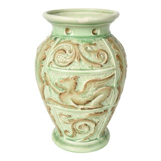 Vintage English Burleigh Decorative Vase For Sale