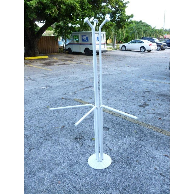 Enamel 20th Century Italian Architectural Space Age White Enamel Coat Rack For Sale - Image 7 of 7