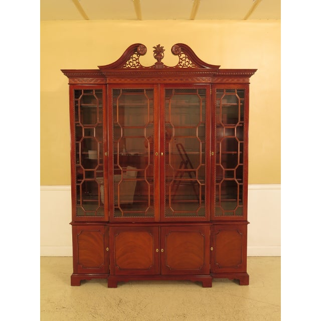 Kindel Four Door Mahogany Breakfront China Cabinet For Sale - Image 13 of 13
