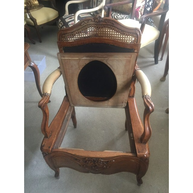 18th Century French Country Walnut Commode Potty Chair For Sale - Image 10 of 12