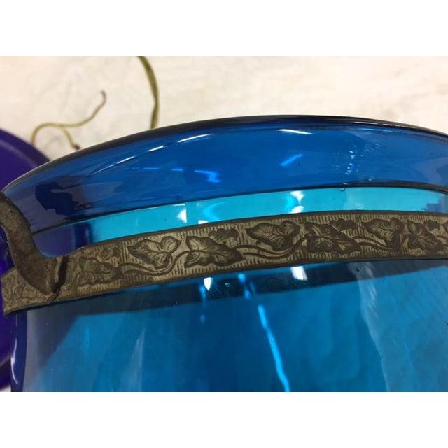 Blue Bell Jar Pendant For Sale - Image 5 of 7
