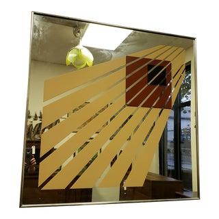 1977 Vintage Mark Warren Pop Art Wall Mirror For Sale