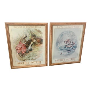 Vintage Beatrix Potter Framed Posters - A Pair For Sale