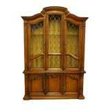 Image of 1970s Drexel Heritage Estorada Collection Spanish Mediterranean China Cabinet For Sale