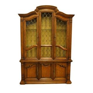 1970s Drexel Heritage Estorada Collection Spanish Mediterranean China Cabinet For Sale