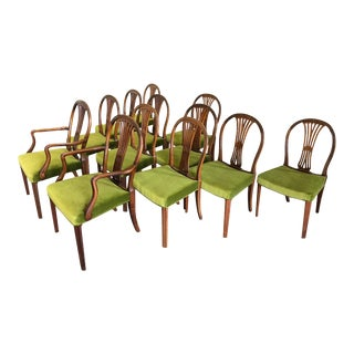 1930s Danish Deco Dining Chairs by Frits Henningsen - Set of 12 For Sale