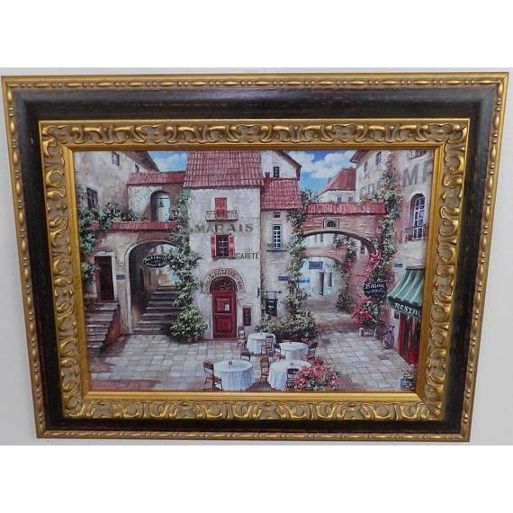 Phoenix Art Group Italian Trattoria Framed Art Prints - A Pair For Sale - Image 4 of 6