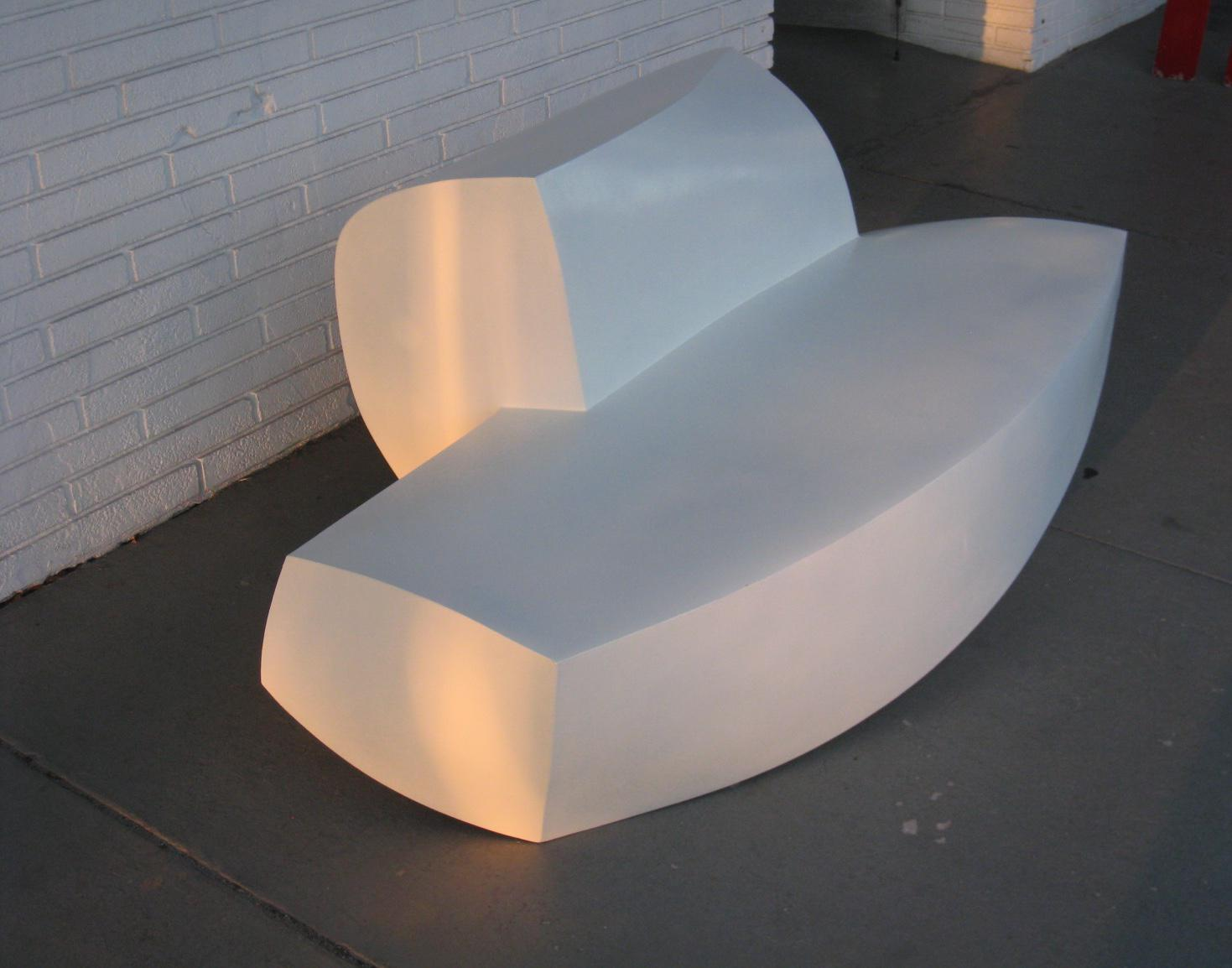 Ordinaire Modern Frank Gehry Molded Plastic Sofa For Sale   Image 3 Of 6