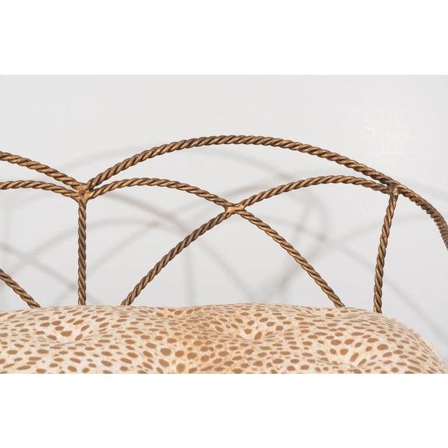 Final Markdown 1950's Italian Gilded Metal Rope Settee - Image 4 of 10