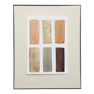 Rose Wirtz Color Study II Framed Painting For Sale