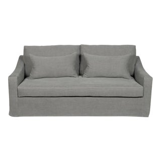 Moss Home Abram Sofa Stonewashed Linen Zinc For Sale