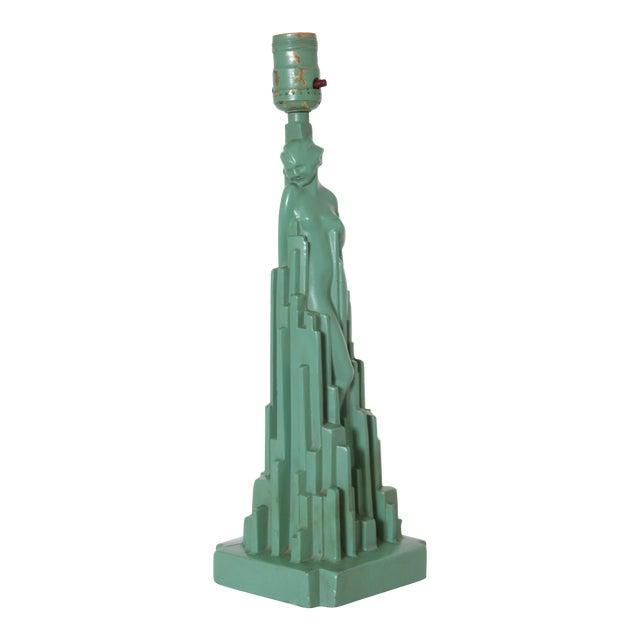 """Machine Age Art Deco Frankart """"Spirit of Modernism"""" Table Lamp #L215, A.V. Frankenberg 1928 For Sale"""