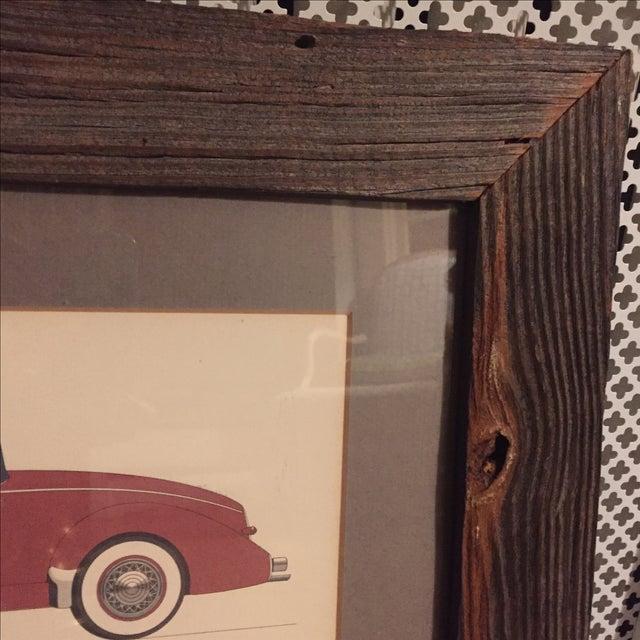 Vintage Framed 1936 Auburn Model 851 Speedster Car Print - Image 6 of 9