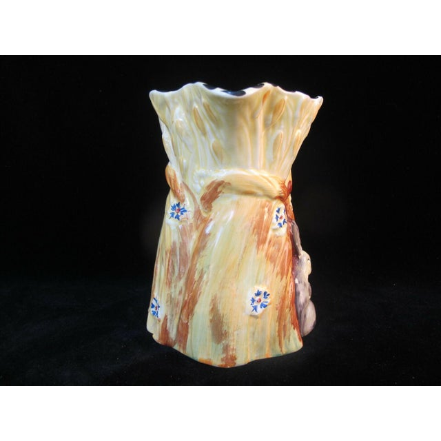 1930s Burleigh Ware Vintage Figural Bunny Rabbit Harvest Wheat Pitcher For Sale In Portland, OR - Image 6 of 8