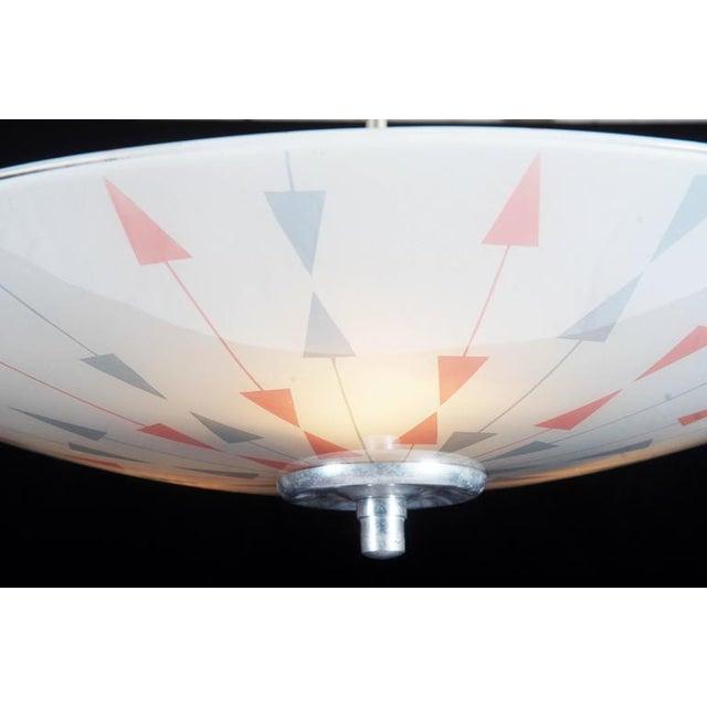 Mid-Century Czech Pendant Lamp, 1958 For Sale - Image 5 of 11