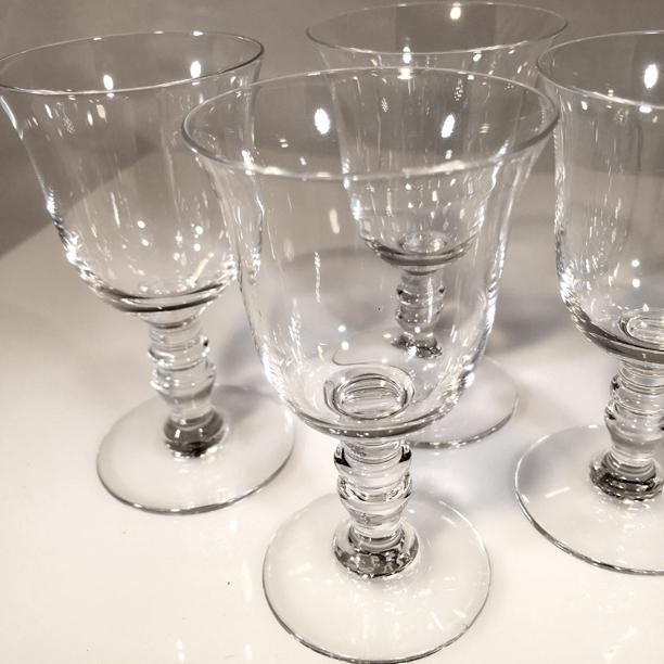Baccarat 1970s Vintage Baccarat Crystal Provence Cordial Glasses- Set of 4 For Sale - Image 4 of 8