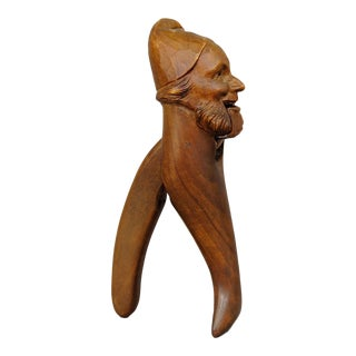 Handcarved Wood Dwarf Nutcracker 1900 For Sale
