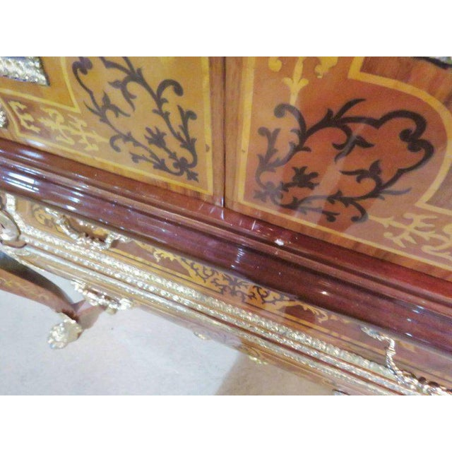 Three-Piece Italian Style Inlaid Figural Office Set For Sale - Image 4 of 11