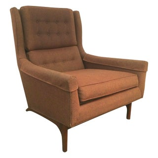 Vintage Goebel Woodworks Danish Modern Wing Chair