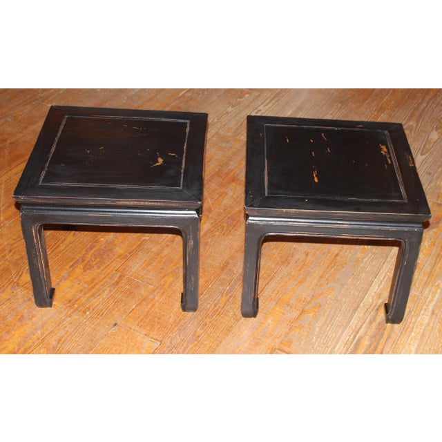 1960s Black Chinese End Tables - a Pair For Sale In Philadelphia - Image 6 of 7
