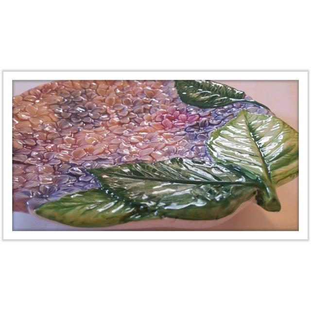Isabella De Borchgrove Italian Flower Plates - A Pair - Image 4 of 10