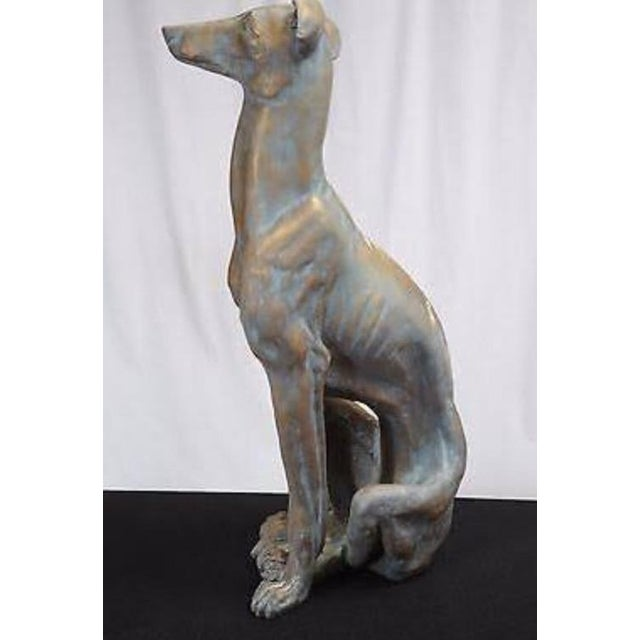 Life-Size Greyhound Dog Statue For Sale - Image 5 of 7