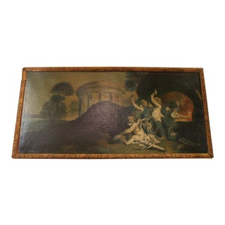 19th Century Italian Painting of Putti For Sale