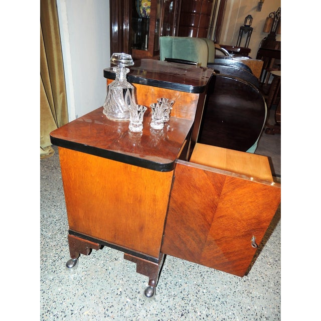 Art Deco Art Deco Rolling Bar Cart For Sale - Image 3 of 10