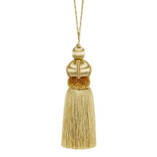 "Gold Key Tassel W Cut Ruche - Tassel Height - 5.75"" For Sale"