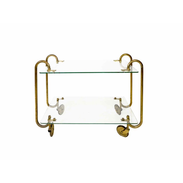 1930s Gio Ponti - Trolley in Glass and Brass - Circa 1930 For Sale - Image 5 of 5