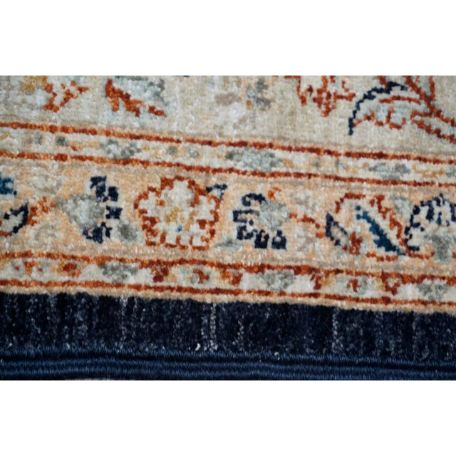 "Vintage wool Oriental rug featuring an intricate, thematic framed center design (80"" x 61"") of medallions and floral..."