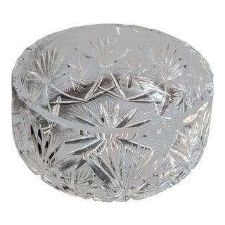 Vintage 1980s Regency Heavyweight Hand Cut Lead Crystal Serving Bowl For Sale
